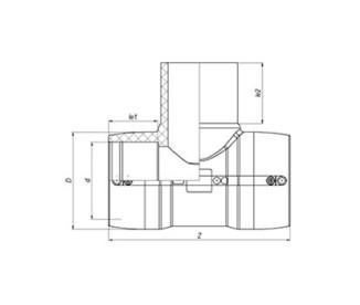 Тройник электросварной Ø32 мм ПЭ100 SDR 11